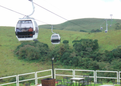 Mountain cable cars at Obudu Cattle Ranch